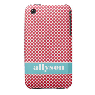Red Dots Design Case Mate  iPhone 3 Case