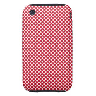 Red Dots Design Case Mate  iPhone 3 Tough Case