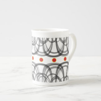 Red dots tea cup