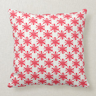 Red dotted stamped star design throw pillow