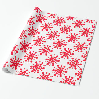 Red dotted stars on white