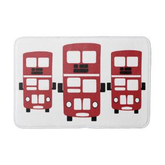 Red double decker bus bathmat rug