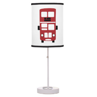 Red double decker bus custom lamp