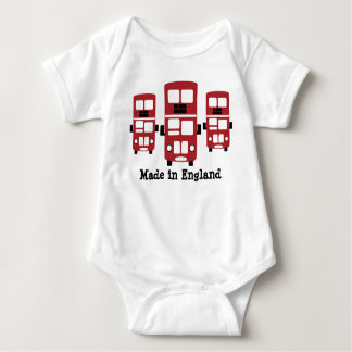 Red double decker bus England design Baby Bodysuit