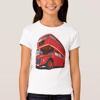 Red Double Decker Bus Girls T-Shirt