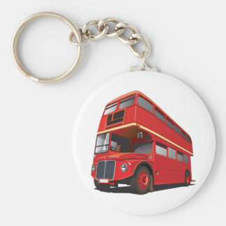 Red Double Decker Bus Keychain