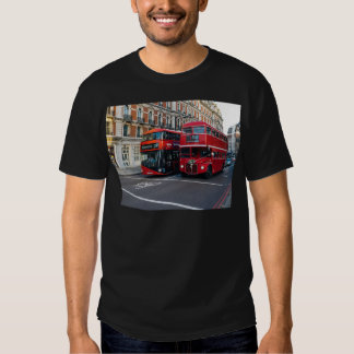 Red Double Decker Buses Tee Shirts