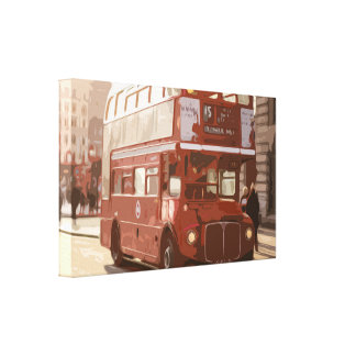 Red Double-decker in London Canvas