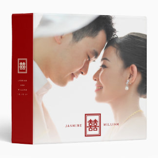 Red Double Happiness Chinese Wedding Photo Binder