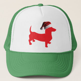 Red-Doxie---And-Santa-Hat Trucker Hat