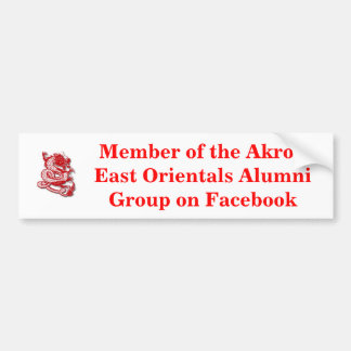 red_dragon3, Member of the Akron East Orientals... Bumper Sticker