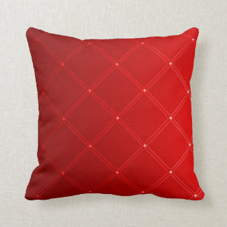Red Dragon Abstract Diamond Pattern Throw Pillow