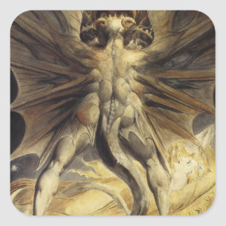 Red Dragon Art William Blake Square Sticker
