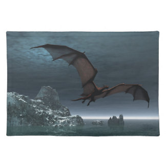Red Dragon at Night Placemats