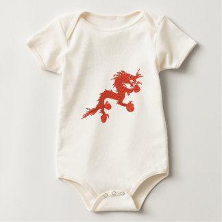 Red Dragon (Bhutan) Baby Bodysuit
