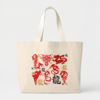 RED DRAGON CANVAS BAGS