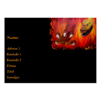 Red Dragon claw Large Business Cards (Pack Of 100)
