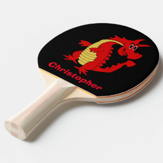 Red Dragon Customized Ping Pong Paddle
