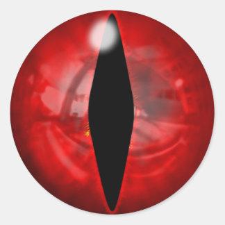 Red Dragon Eye Round Sticker