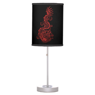 Red Dragon Graphic Lamps