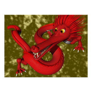 Red Dragon (large size) Poster