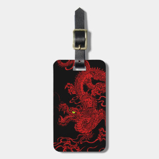 Red Dragon Luggage Tag