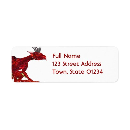 Red Dragon  Mailing Labels
