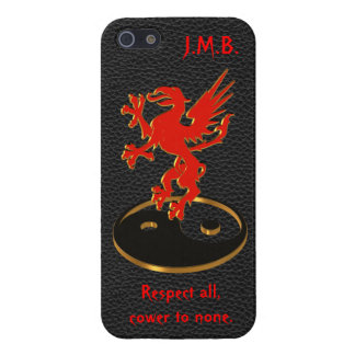 Red Dragon martial arts yin yang iPhone 5 Cases