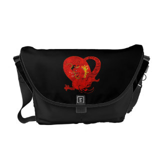Red Dragon Messenger Bag