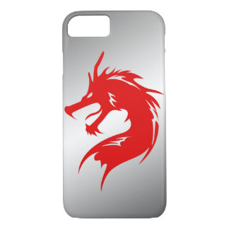 Red Dragon Metal Background iPhone 8/7 Case