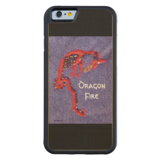 Red Dragon Myth Fantasy Carved Maple iPhone 6 Bumper Case