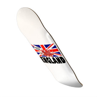 Red Dragon of England in Tea Time Skate Deck