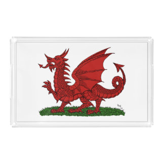 Red Dragon of Wales Acrylic Tray