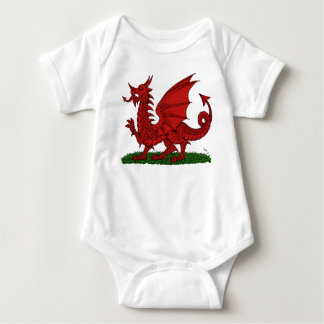 Red Dragon of Wales Baby Bodysuit