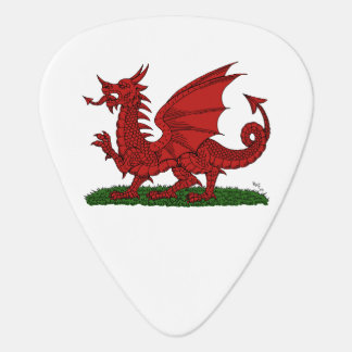 Red Dragon of Wales Guitar Pick