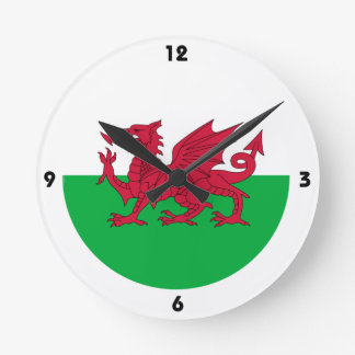 Red Dragon of Wales Wall Clock