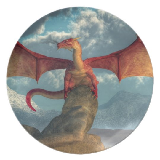 Red Dragon Plate