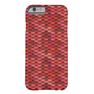 Red Dragon Scale Pink Discs Barely There iPhone 6 Case
