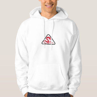 Red Dragon Silhouette Triangle Retro Hoodie