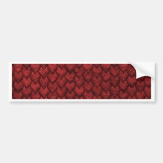 Red Dragon Skin Bumper Sticker