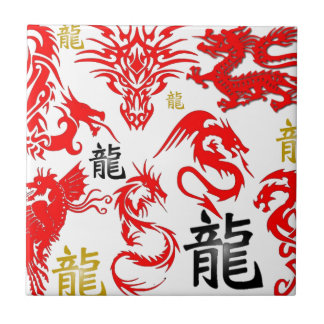 RED DRAGON TILE