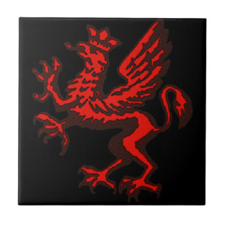 Red dragon tiles