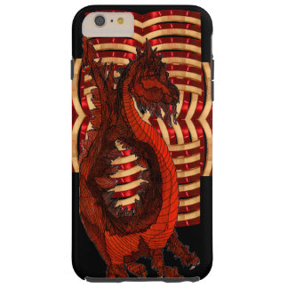 Red Dragon Warrior Armor Black Goth Steampunk Geek Tough iPhone 6 Plus Case