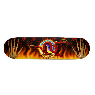 Red Dragon with your nme in flames design Skate Decks