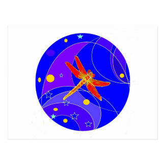 Red Dragonfly Celestial's by Sharles Postcard
