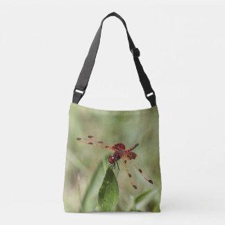 Red dragonfly crossbody bag