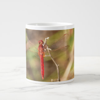 Red Dragonfly in Nature Coffee Mug by Julie