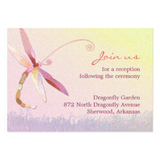 Red Dragonfly Wedding Reception Enclosure(3.5x2.5) Business Card