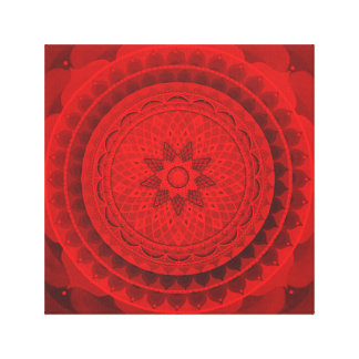 Red dream mandala canvas print