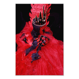 Red Dress at the Carnival of Venice Photographic Print